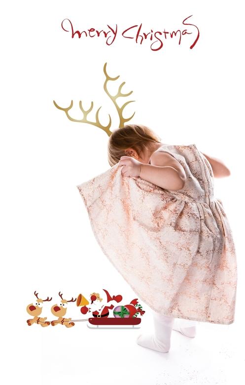 Kerstkaartje van kleinkind Clara
