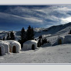 Iglo's in de Kitzbuhel Alpen