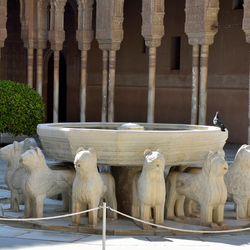 het leeuwenhof in Alhambra Spanje