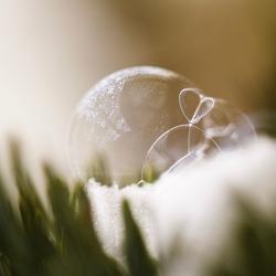 Bijna bevroren zeepbel