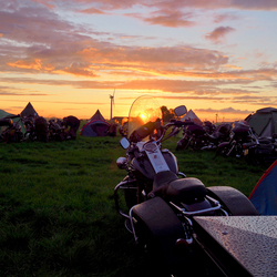 sunset at motorcamp