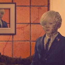 Collage met foto van Erwin Olaf