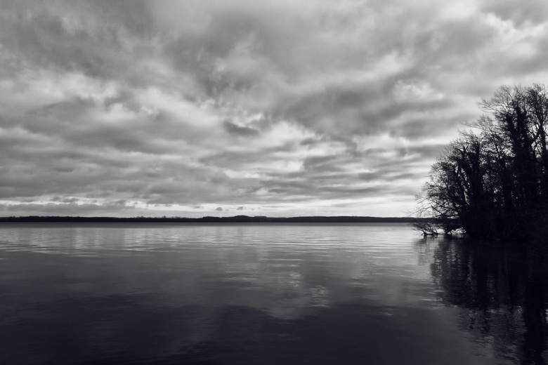 Glad water - De laatste tijd probeer ik meer in zwart/wit te fotograferen. Dit is een van de foto's die ik heb genomen om in z/w om te zetten. He