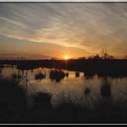 Zonsondergang op het fochteloërveen