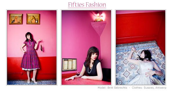 Fifties Fashion - - Model: Britt Sebrechts<br /> - Clothes: Sussies, Antwerp.