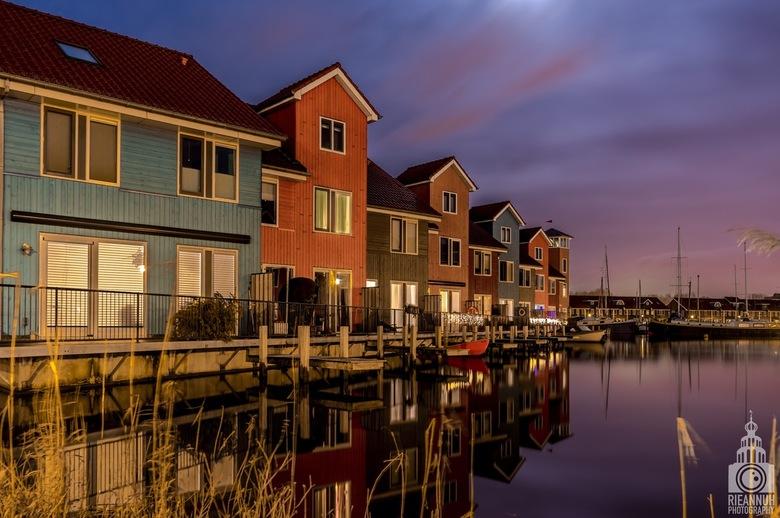 Zonsondergang Reitdiep Groningen