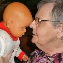 Pure liefde.... van mijn demente moeder voor haar kind.