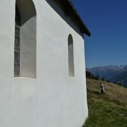 Kerk in de Alpen
