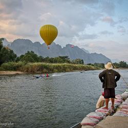Luchtballon in Vang Vieng (Laos)
