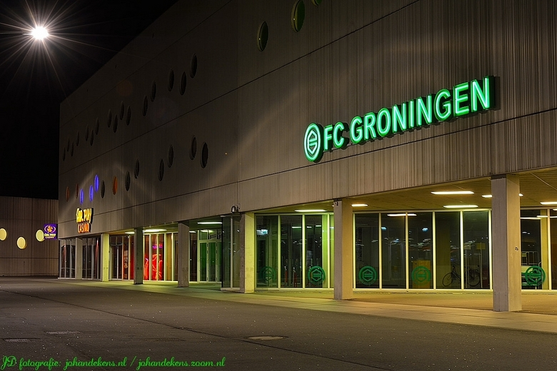 FC Groningen. - Stadion Euroborg is naast de Martinitoren, het Groninger Museum en het Gasuniegebouw één van de spraakmakende beeldmerken van Groninge