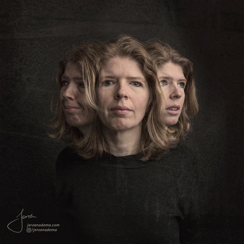 Portret III - Een hele emotionele shoot. Paula wou graag vast laten leggen hoe zij zich voelt achter haar masker naar de buitenwereld. Het idee om ver