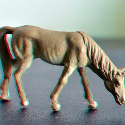 paard HO 1:87 3D anaglyph macro