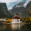 Wonderful autumn day in Konigssee Lake.
