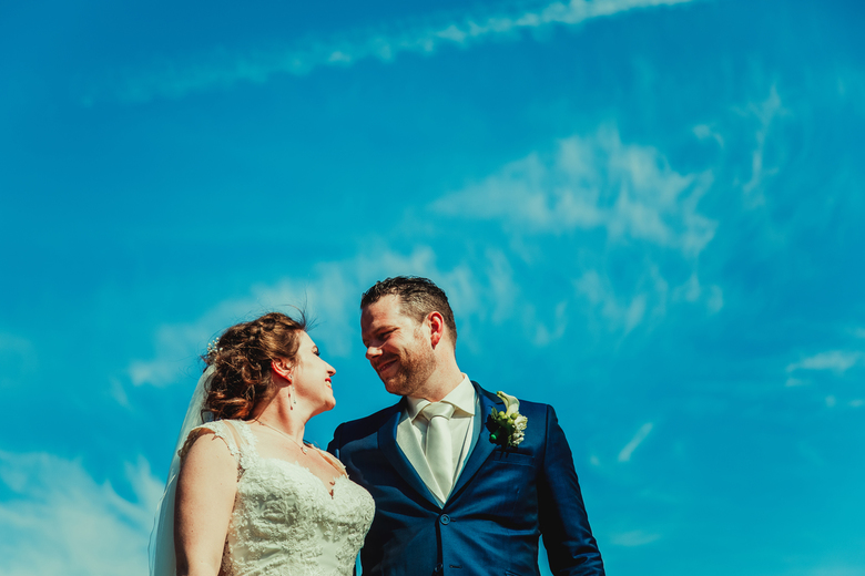 Liefde en blauwe lucht -