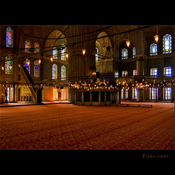 Patronen in de blauwe moskee