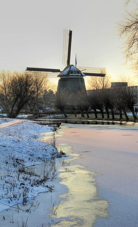 Wintersfeer - De Geestmolen in Alkmaar