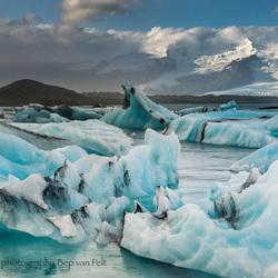 Jökulsárlón gletsjer meer en de Breiðamerkur gletsjer