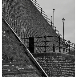 Black & White Stairs to the Northsea Beach stairs at Cromer