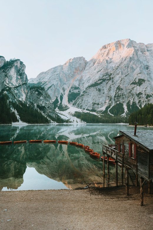 Postcard from the Dolomites. -