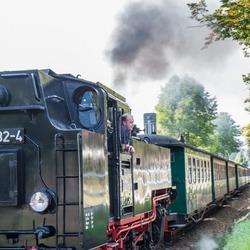Een oud treintje