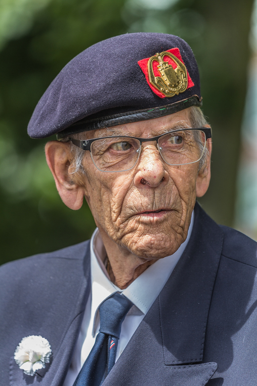 Veteraan - Portret van een veteraan gemaakt op de jaarlijkse veteranendag in Den Haag