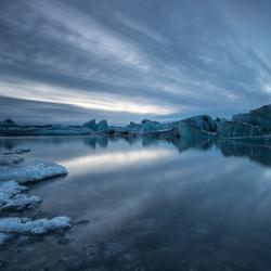 Glasier lake, Iceland
