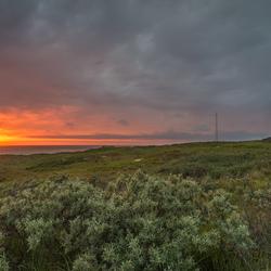 Zonsondergang vuurtoren Eierland