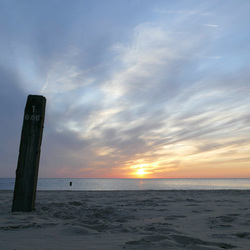 Maandagavond op het Huisduiner strand