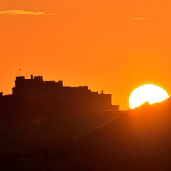 sunset bamburgh castle
