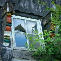 Kapotte raam.