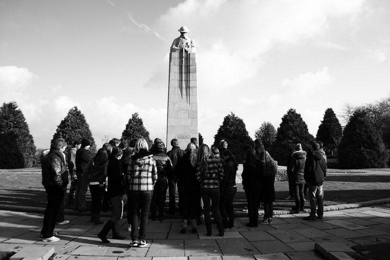 Monument - Een Canadees monument van de eerste WereldOorlog in Ieper. Deze foto heb ik gemaakt tijdens een excursie met Havo5.