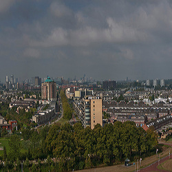 Panorama met Skyline Rotterdam