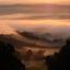 mist in het dal