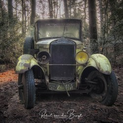 Old car in the wood
