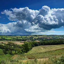 Some rain may fall, Dorset countryside.
