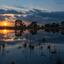 Zonsondergang nabij Beuven op de Strabrechtse heide
