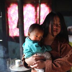 Moeder & Dochter, Bhutan