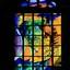 Glas in loodraam in de Nieuwe kerk in Delft