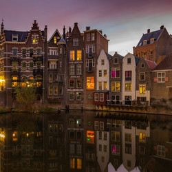 Historisch Delfshaven by night