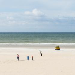 Op het strand....