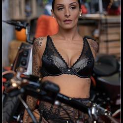 Tattoo Brussel... Woman on Bike