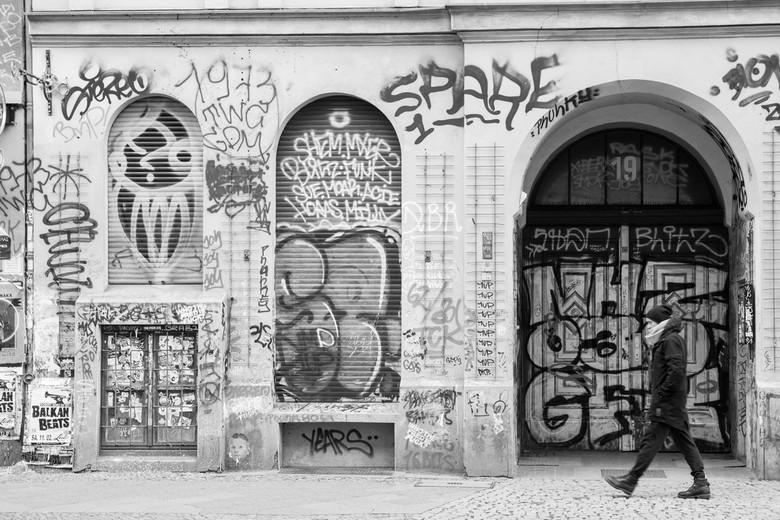 Straatbeeld in Berlijn - Een koude januaridag in Berlijn.