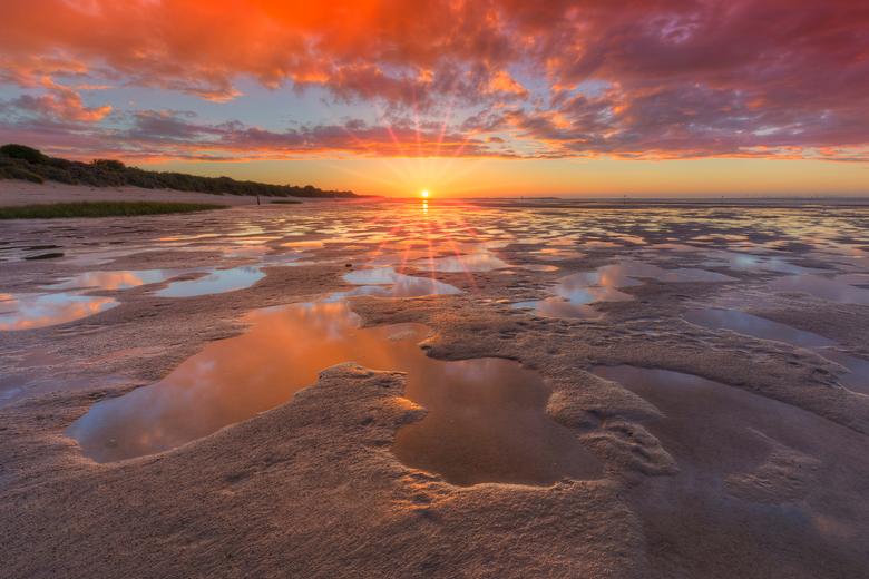 Zonsondergang op de Kwade Hoek - Zonsondergang in Natuurgebied de Kwade Hoek