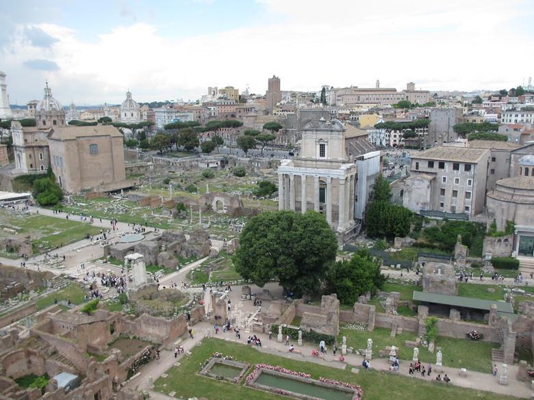 """Oud Rome - Overview van oude gebouwen (of wat ervan over is...). """"Roma, non basta una vita"""" - 1 leven is niet genoeg om heel Rome gezien te"""