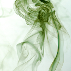 vrouw in rook