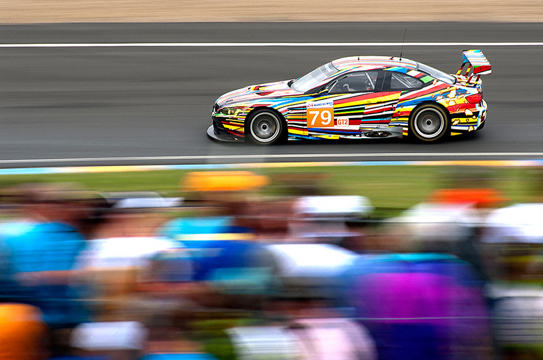 Colors in motion - BMW art car, Le Mans 2010.<br /> Nikon D2X + Tokina AF 300mm f/2.8 AT-X Pro <br /> 1/60 sec. f/5.6