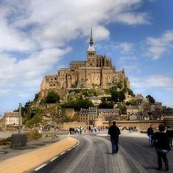 De weg naar Mont St. Michel