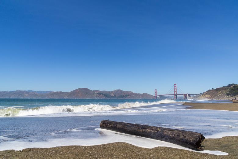 Golden Gate Bridge - Golden gate bridge van af Baker beach