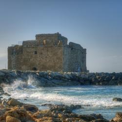 Middeleeuws kasteel van Paphos Cyprus
