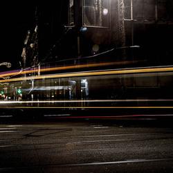 Tram in de bocht